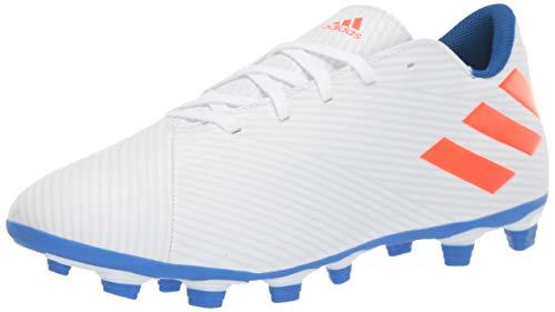 adidas Herren Nemeziz Messi 19.4 Firm Ground Fussballschuh, Weiß/Solar Rot/Fußball Blau, 46 2/3 EU