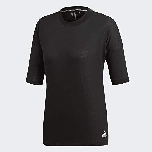 adidas Damen T-Shirt Must Haves 3-Streifen, Black/White, S, EB3820