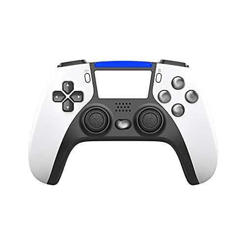 Xin Hai Yuan Joystick Inalámbrico De 6 Ejes para PS4 Consola De Juegos PS5 para Controlador PS5 Gamepad De Vibración Bluetooth para Playstation 5 Gamepad,Blanco