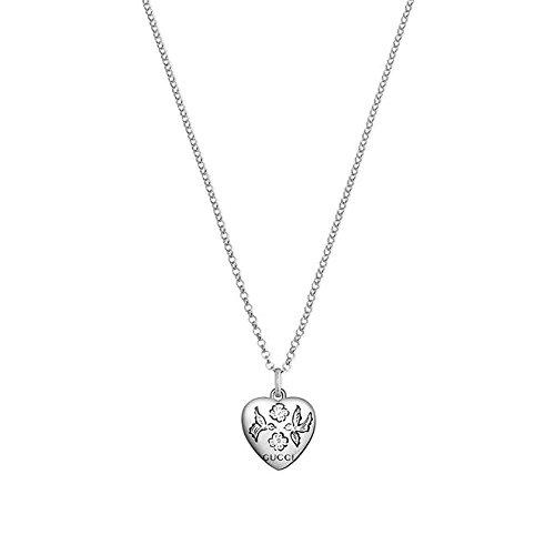 Gucci Damen-Kette mit Anhänger BLIND for Love 925 Silber 50 cm - YBB45554200100U