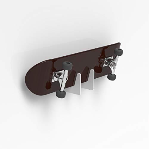 Plexico Skateboard Halterung, Acryl, Weiß