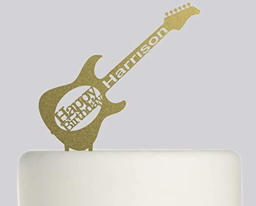 Montrwie Geburtstagstorte Tortenaufsatz Gitarre - personalisierbar mit Ihrem Namen