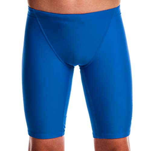 Flow Ignite Swim Jammers - Size 24 to 30 Swimming Jammer Shorts for Boys in Blue, Green, Red and Black (25 Blue)