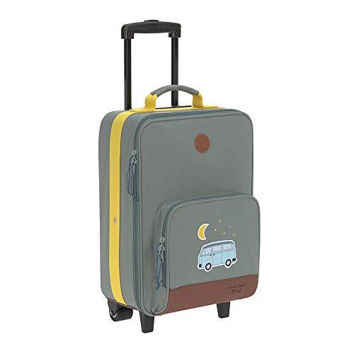 LÄSSIG Kinder Trolley Kindergepäck Reisekoffer mit Packriemen und Rollen ab 3 Jahre/Kids Trolley, Adventure Bus