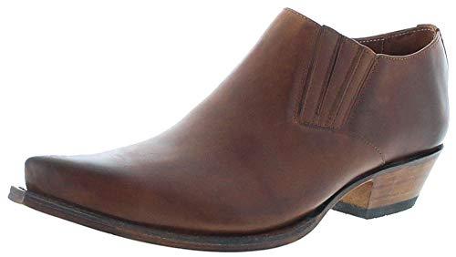 Sendra Boots Unisex Schuhe 4133 Tang Lederschuh Halbschuhe Westernschuhe Braun 46 EU
