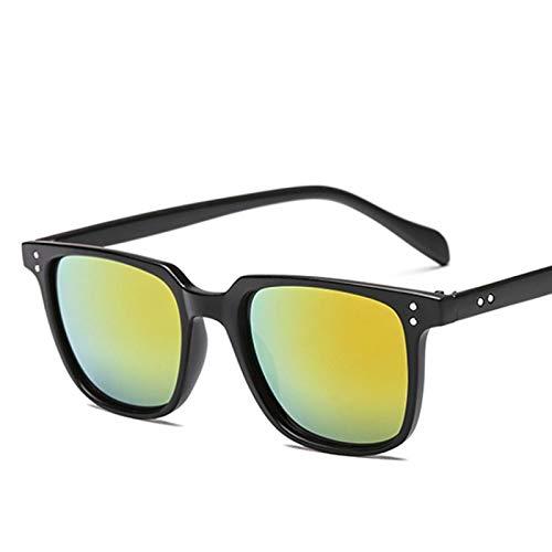 Gafas de Sol Sunglasses Gafas De Sol Retro Vintage para Hombre, Nuevas Gafas De Sol De Diseñador Cuadradas para Hombre, Gafas De Conducción con Espejo Uv400 C3