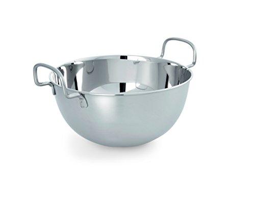 Schlagkessel 24cm - 3,8 Liter Edelstahl mit Griffen rund Schneeschlagkessel Rührschüssel Schüssel Backschüssel rostfrei