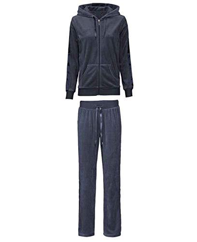 Esmara Damen Nickianzug Hausanzug Wellnessanzug Navy XS 32/34