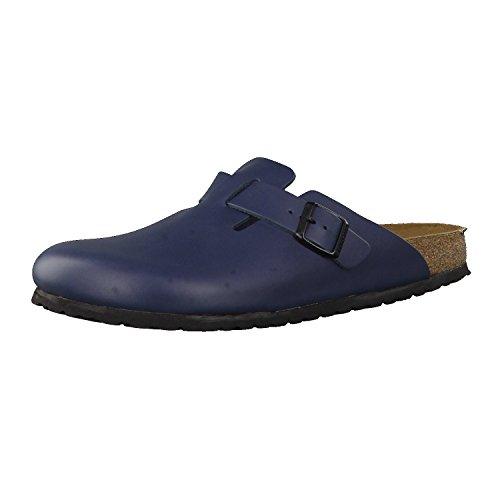 Birkenstock Schuhe Boston Naturleder Schmal Blue (060153) 41 Blau