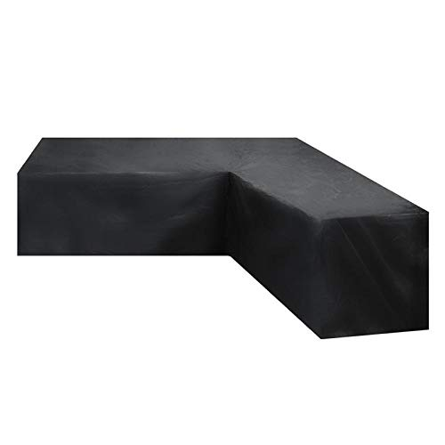 WJBABJ Garden Furniture Covers Waterproof V Shape Corner Outdoor Sofa Cover Rattan Patio Garden Furniture Protective Cover All-Purpose Dust Covers (Color : 270x270x90cm)