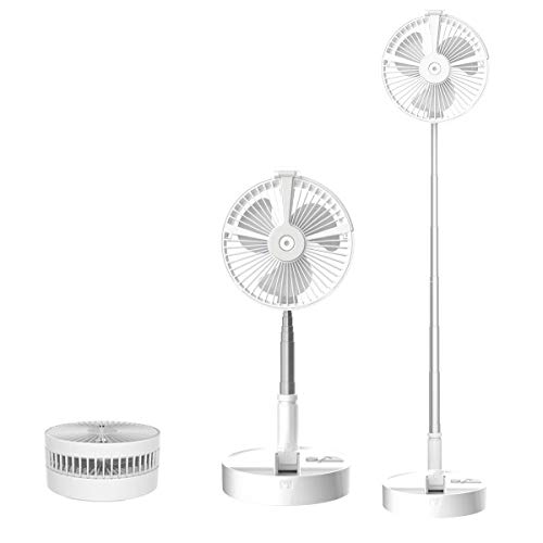 Personal Folding Portable Telescopic Table Fans Floor Fans USB Fans, 7200 mAH Rechargeable Battery, with humidification, Night Light, 4 speed Adjustable Wind Speed, Ultra-quiet