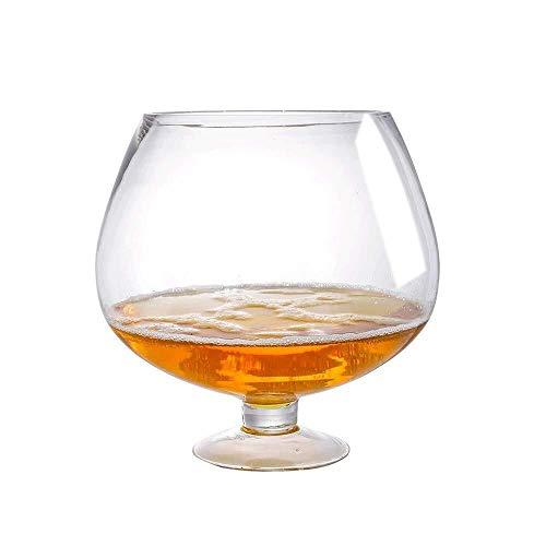 Riesen Weinglas Übergroße Bierglas Riesenweingläser Großes Cocktailglas Bar-Partei-Verein Barware mit Whiskey Bier Scotch Juice Cups for Geburtstage Weihnachten Weingläser (Size : 3000ml)