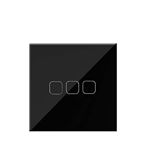 Interruptor De Luz Estándar 1 2 3 Gang 1 Way AC100-240V CRISTAL CRISTAL CRISTAL PANTALLA DE PANTALLA DE PANTALLA DE ENTREGA TOUCHO TOUCH CONTROL DE PUSHO INTERRUPTOR DE PUSHO Conmutador Superficie