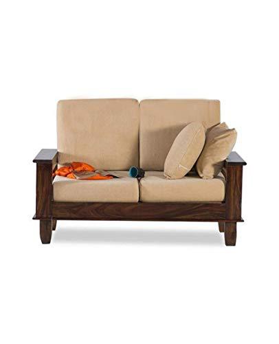 MH Decoart Sheesham Wood Brown 2 Seater Sofa Set for Living