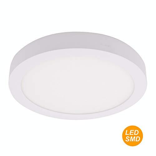 SECEIEL ® Plafón LED24W6000K Downlight LED redondo, aluminio,luz fría [Clase de eficiencia energética A+]