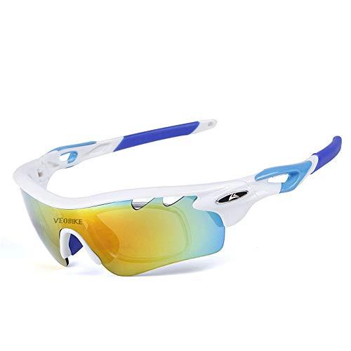 WOXING Vintage Polarizadas Gafas De Sol,Hombre Ciclismo Deportivas Conducen Gafas De Moda,Protección UV Antideslumbrantes Gafas,Carrera UV 400 Protección Pesca Esquiando-C 16.1x4.1cm(6x2inch)