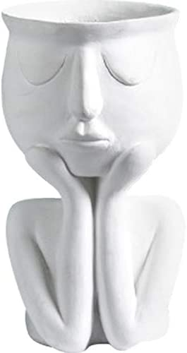 MOCOHANA Indoor Outdoor Head Planter Pot Resin Succulent Planter Vase Greek Statue Planter Urn product image