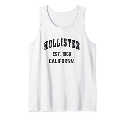 Hollister, California Home Souvenir . EST. 1868 . blue Tank Top