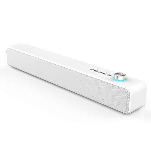 사운드 바 블루투스 스피커 10W 3D 서라운드 사운드 강화 베이스 블루투스5.0 홈 극장 프로젝터 PC 지원