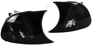 TopPick 63126904307-SV-63126904308-SV Corner Lights FOR BMW E46 3-Series 2DR and M3 1999-2001 Smoke/Chrome