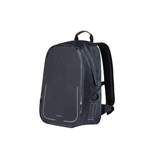 Basil Urban Dry Rucksack, mattes schwarz, 18 Litre