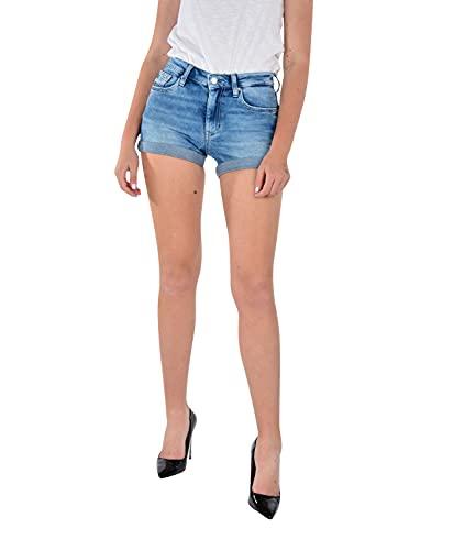 Calvin Klein Jeans Mid Rise Short Rolled Pantaloncini, Denim Dark, 28W Donna