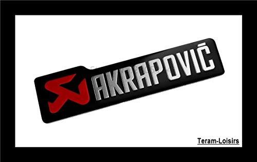 Teram Loisers - Placa de aluminio de alta temperatura Akrapovic para silenciador...