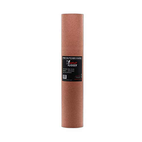 Pink Butcher BBQ Paper Refill Roll For Dispenser Box (17.25 Inch by 175 Feet) - Food Grade Peach Wrapping Paper for Smoking Beef Brisket Meat Texas Style, All Natural and Unbleached…