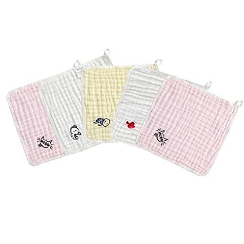 ITCUTE 5 unids bebé muselina paños Natural suave algodón toalla cara bebé alimentación baberos Natural suave algodón toalla