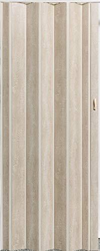 Falttür Schiebetür Tür Sonoma Eiche hell farben Höhe 202 cm Einbaubreite bis 109 cm Doppelwandprofil Neu TOP-Qualität-pi-325