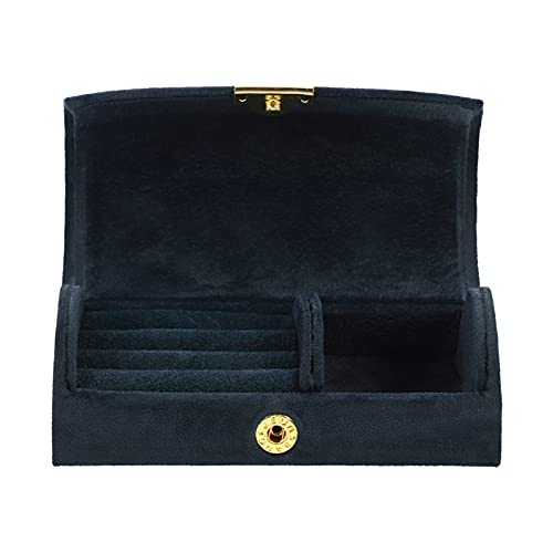 ifundom Caja de almacenamiento de joyas de viaje Organizador de joyas portátil para joyas, caja de almacenamiento para pendientes, anillo, collar y pulsera