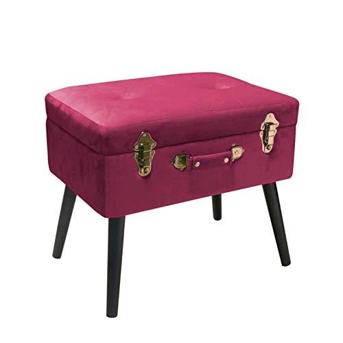 Pusher Topcase, Sitzsack, Dunkelrosa Velvet, 50 x 20 x 33 cm