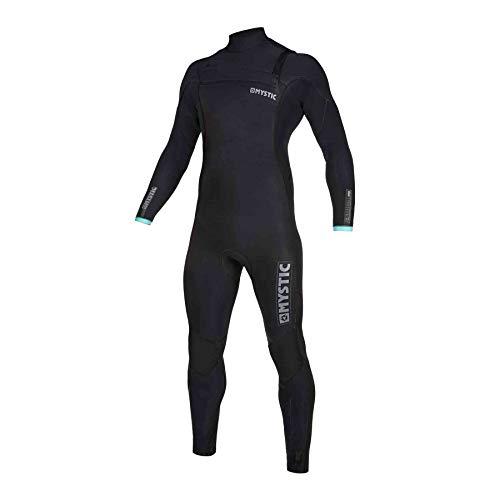 Mystic Watersports - Surf KiteSurf & Windsurfing Heren Marshall 4/3mm Wetsuit met rits op de Chest Zip 200008 - Black Mint - Thermal Warm