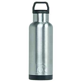 RTIC Water Bottle 16 oz Brushed Steel Vacuum-Insulated Stainless Steel