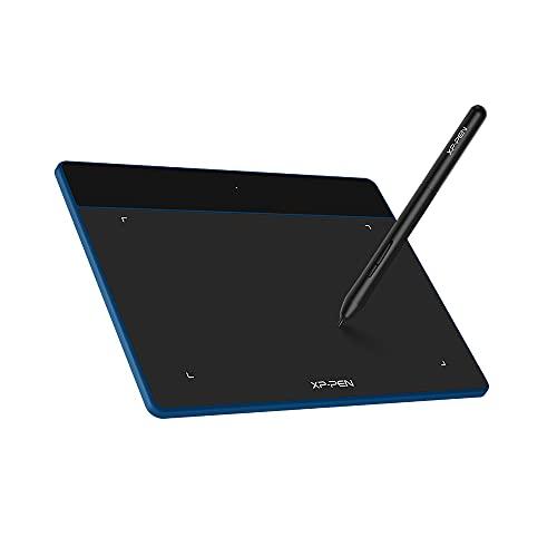 XP-PEN Deco Fun S Tableta Gráfica 6x4 Pulgadas Compatible con Mac, Windows, Android y Chromebook, Tableta de Dibujo con Lápiz P01 sin Batería para Pintar Dibujar y Editar Fotos(Azul)