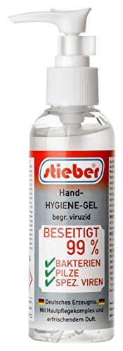 stieber® Handgel begr. viruzid Hände-Desinfektion 150 ml (150 ml Reise-Pumpspender)