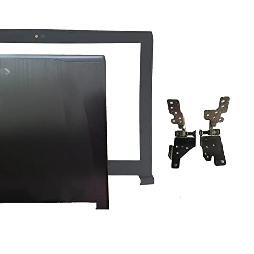 Laptop-Ersatzteile Kompatibel mit MSI GE62 2QD-007XCN MS-16J1 16J1 16J2 16J3 Obere LCD-Rückseite schwarz Non-Touch/LCD-Rahmenabdeckung/LCD-Scharniere LundR/Scharnierabdeckung (Color : A B and Hinges)