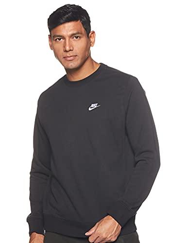 Nike M NSW Club Crw BB T-Shirt à manches longues pour Homme, Noir (Black), FR : M (Taille Fabricant : M)