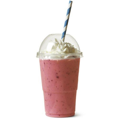 Einwegbecher mit Deckel –für Milchshakes, Slush-Eis, Smoothies, 300 ml, 100 Stück