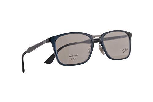 Ray-Ban RB 7131 Eyeglasses 53-19-145 Transparent Grey Blue w/Demo Clear...
