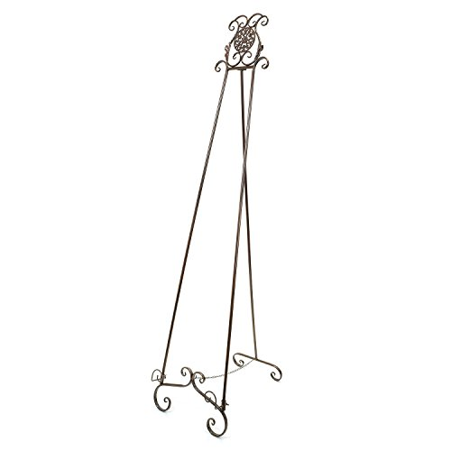 SOURCEONE.ORG Source One Deluxe Large Metal Display Easel 70 Inches Tall, White, Brown & Black Available (Brown)