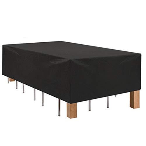 QIAOH Cubierta De Muebles De Jardín Funda Protectora para Muebles Impermeable Anti-UV Oxford Protección Exterior Muebles De Jardín Sofá 330x213x58cm, Mesa, Silla