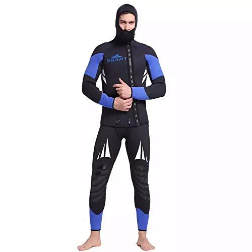 WYYHAA 5Mm Hombres De Neopreno Traje De Dos Piezas Traje De Buceo Correa Siameses Caza Fishwear Snorkel,L