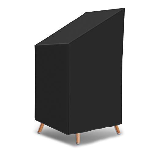 Vivibel Gartenmöbel Abdeckung, Cover Stuhl, Schutzhülle Stuhl, Wasserdicht & Sie Wind &UV-Schutz -Abdeckung für Gartenstühle für Gartenstühle/P210D Oxford + PVC- 65 * 65 * 80/120 cm