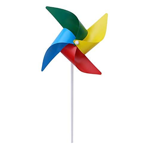 MCLJR Molinos De Viento para Niños,10Pcsdiy Pinwheel, Ift para Que Jueguen Los Niños, O como Una Decoración Delicada, Adecuado para Jardín, Fiesta, Exterior, Patio, Decoración