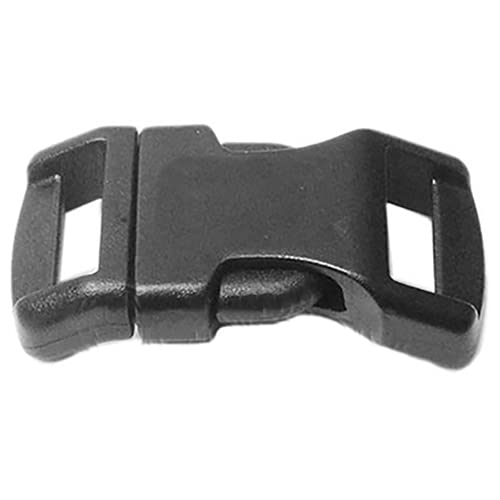 BLUECELL 60 PCS 1/2 Black Contoured Side Release Plastic Buckles by Generic