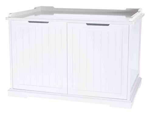 Trixie 40233 Katzenhaus für Katzentoilette XL, 75 × 51 × 53 cm, weiß