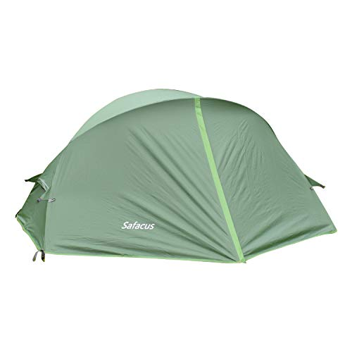 SAFACUS 1 Man Tent for Outdoor Backpacking, Lightweight Waterproof 1 Person Tent for Camping Hiking Vacation, Ultralight Easy Set Up with Aluminum Poles