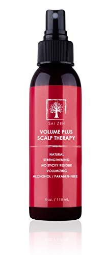 Sai Zen Volume Plus Scalp Therapy Spray   Post-Shower Hair Strengthening Formula   Made in USA  Alcohol and Paraben Free, 4 oz.