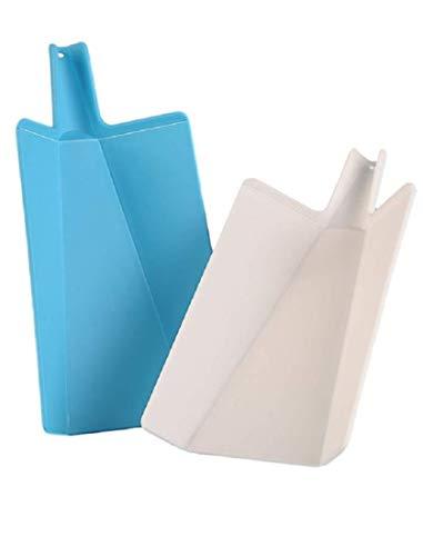 Slap Chop Folding Plastic Cutting Board - Chopping Board Kitchen Prep Mat | 11 inch x 7 inch | Non Slip Surface | Dishwasher Safe | (Set of 2)